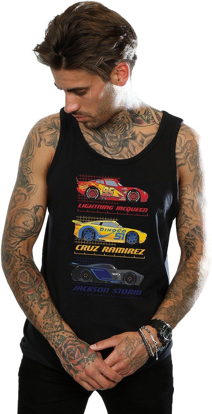 mart Disney Low price Men's Cars Racer Profile Black Medium Top Tank