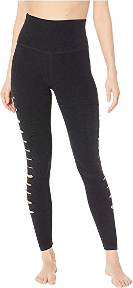 1fd7c27d4ed31 Beyond Yoga. High Waist Long Legging. $97.00. Spacedye So Slashed  High-Waisted Midi Leggings