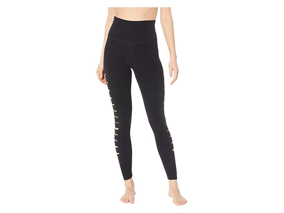 Beyond Yoga Spacedye So Slashed High-Waisted Midi Leggings (Darkest Night) Women