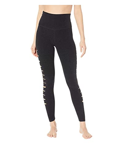 Beyond Yoga Spacedye So Slashed High-Waisted Midi Leggings (Darkest Night) Women