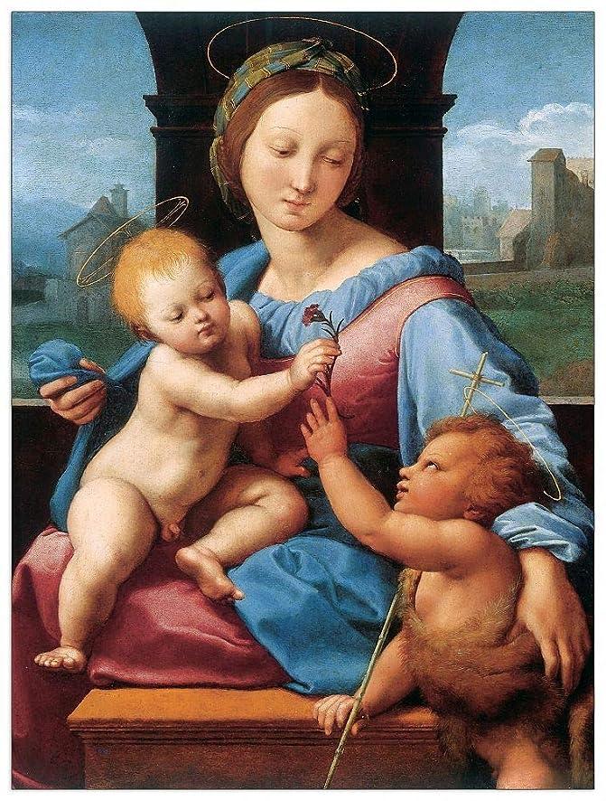 ArtPlaza TW93279 Sanzio Raffaello-Madonna aldobrandini Decorative Panel, 27.5x35.5 Inch, Multicolored