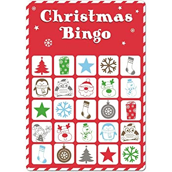 15 Christmas Bingo Cards Xmas Party Stocking Gift Bag Filler Family Kids Office Home Pub Bar Secret Santa Game By Concept4u Amazon Co Uk Toys Games