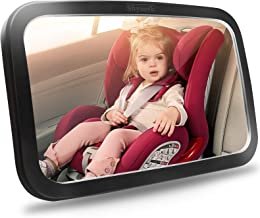 Shynerk Baby Car Mirror, Safety Car Seat Mirror for Rear Facing Infant with Wide Crystal..
