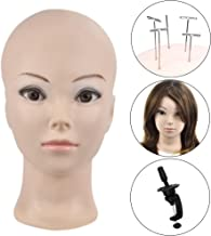 Bald Female Cometology Mannequin Head Training Head Doll Head for Wig Making and Dispay