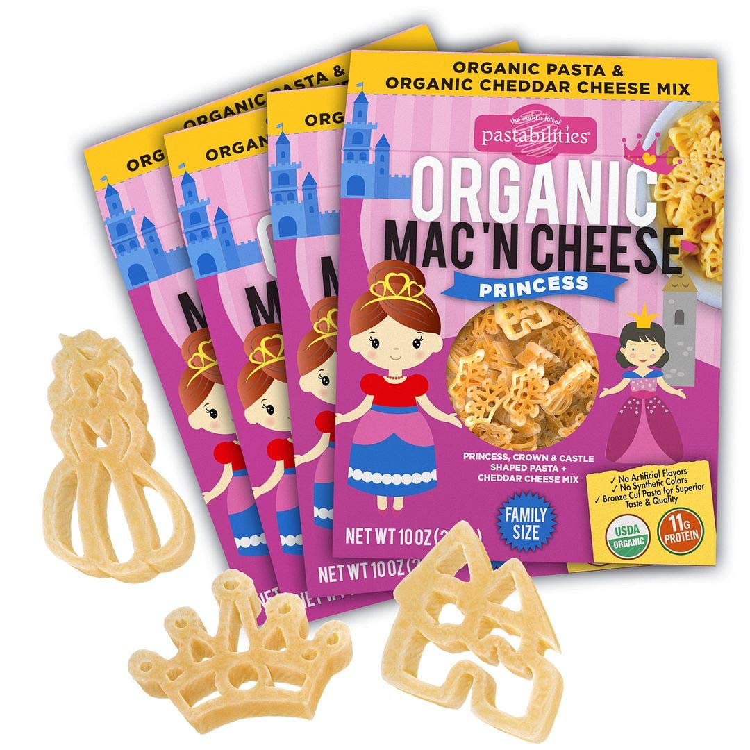 Pastabilities Organic Kids Princess Shaped Sales of Ranking TOP1 SALE items from new works Fun Cheese P and Mac