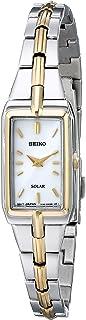Seiko Women's Two-Tone White Dial Solar Dress Watch