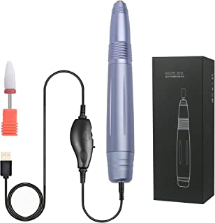 Portable Electric Nail Drill,Lumcrissy Professional Efile Electric Nail Drill Kit,USB Manicure Pen Sander Polisher For Acr...
