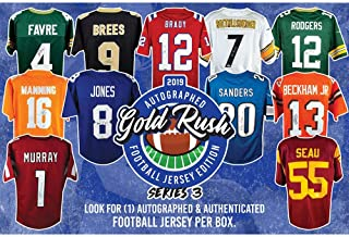 2019 Gold Rush Autographed Football Jersey Edition Series 3 Box