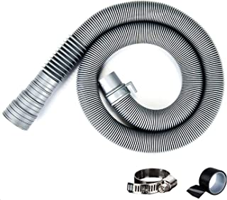 TiCoast Universal Washing Machine Drain Hose, Heavy-Duty 6.5ft Drain Hose Extension Kit, Cuttable and Flexible Washer Discharge Hose, Reinforced Washer Hoses with Clamp & Tape (Gray)
