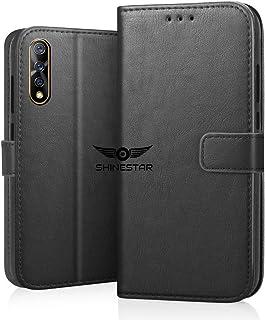 SHINESTAR PU Leather Flip Wallet Case with TPU Shockproof Cover for Vivo Z1x (Classy Black, Vivo Z1x)