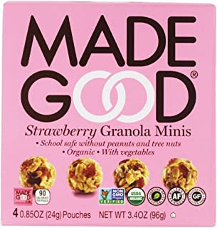 Made Good Strawberry Granola Minis 3.4 oz (Pack of 2)