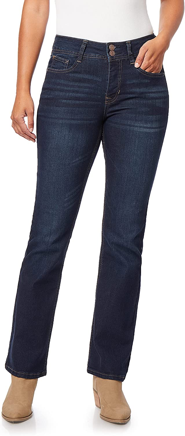 Angels Forever Young Women's Curvy Bootcut Jeans