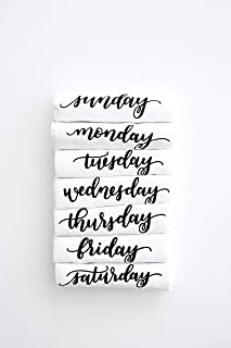 days of the week tea towels