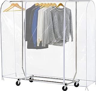 garment rack covers clear