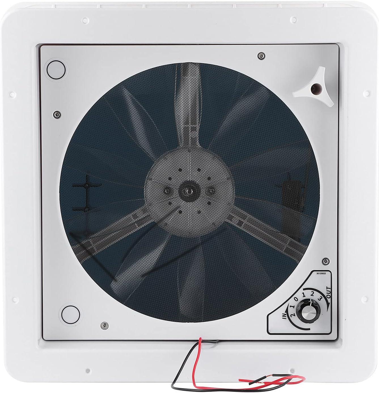 KIMISS Vent Ventilación de techo para RV, Ventilador de escape de aire 12V/24V Ajuste manual de engranaje Ventilación eléctrica de 2 vías para RV Caravan Camper Yacht