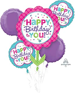 ANAGRAM INTERNATIONAL 3093301 BOUQUET PINK AND TEAL BIRTHDAY, Multicolor