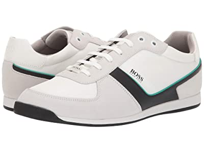 BOSS Hugo Boss Glaze Low Profile Sneaker by BOSS 1 (Open White) Men