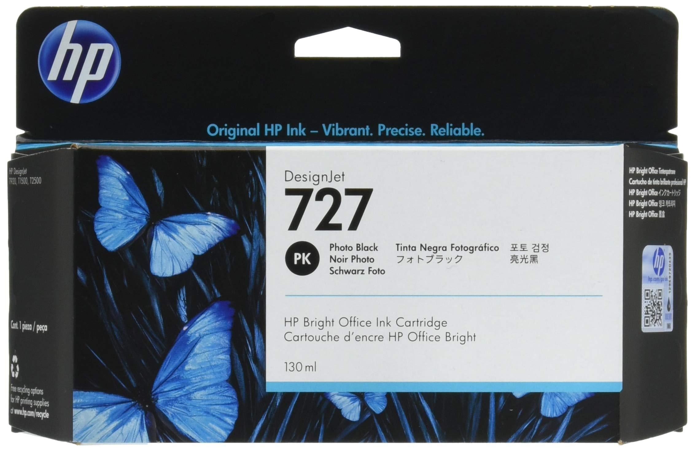 HP 727 - Cartucho de tinta, 130 ml, negro: Hp: Amazon.es: Oficina ...