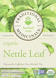 Traditional Medicinals Organic Nettle Leaf 16 Tea Bags (Pack of 2)