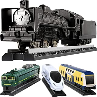 Toy Train Set For Toddlers, GEYIIE Kids Metal Alloy Trains Set City Classical Trains Railway Play Toy Sets with Track, Metro Bullet Train Locomotive Toy Diecast Educational Birthday Toys Gift for Part
