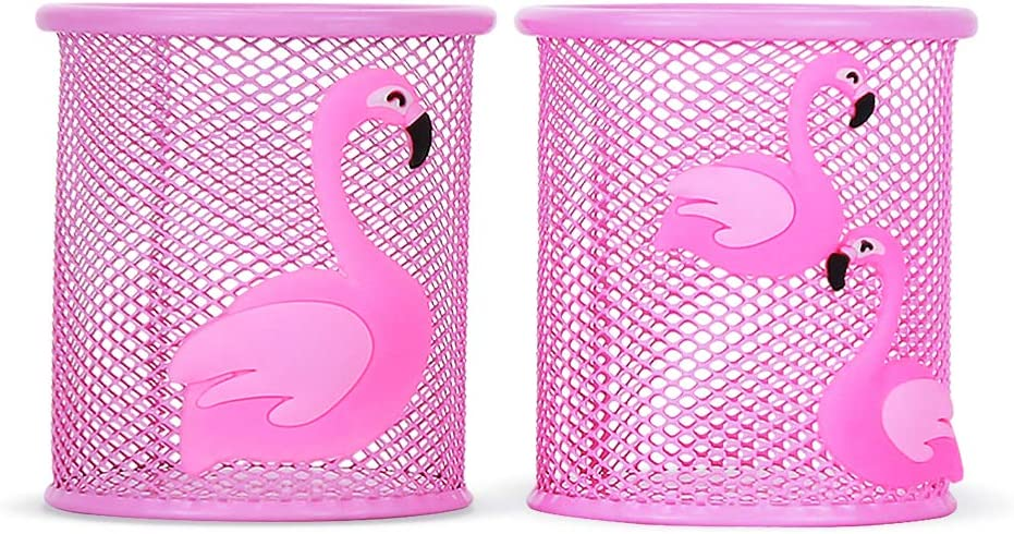 Trycooling Pen Holder Cute Pink Desk Cartoon Cheap mail order sales M for Pencil Direct stock discount