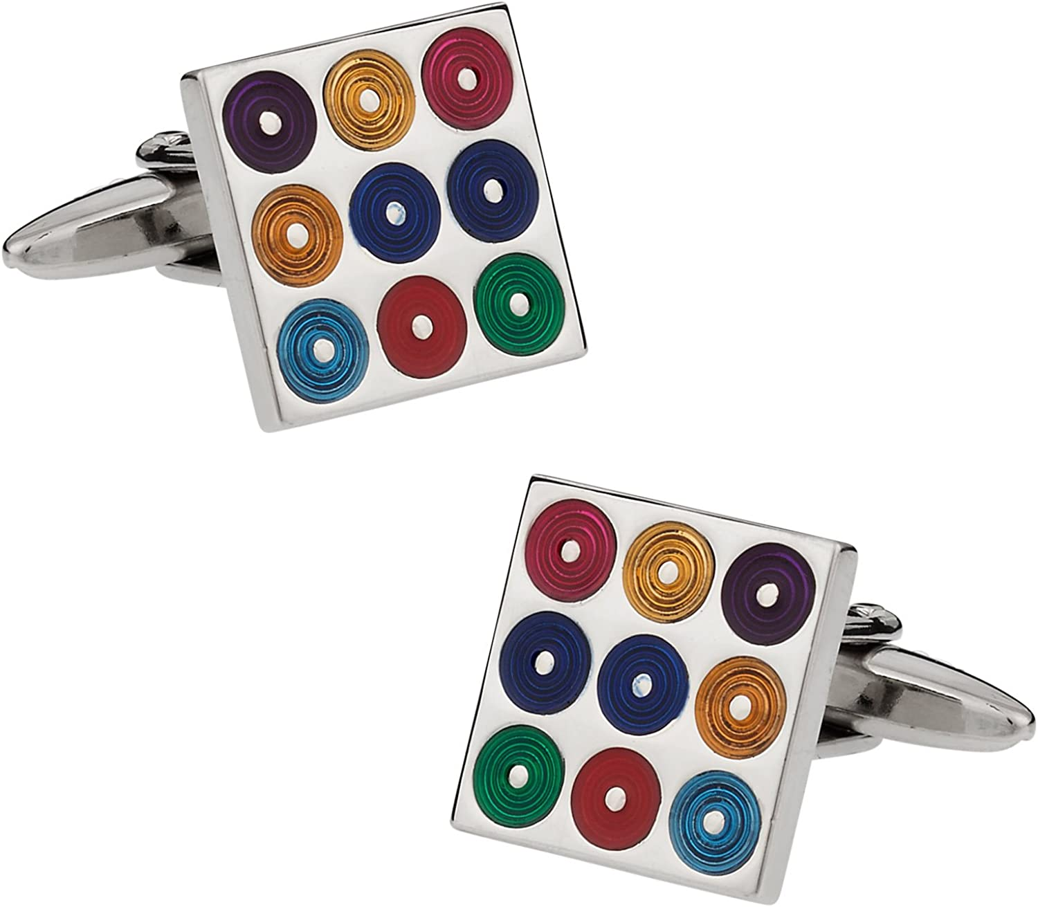 Cuff-Daddy Multi-Color Turntables Cufflinks Ranking TOP20 with 2021 new Presentation Bo