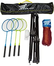 Bogalen Height Adjustable Badminton, Tennis or Volleyball Portable Net Stand for Family Outdoor Games