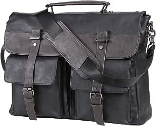 Seyfocnia Messenger Bag 15.6 Inch Business Briefcase Vintage Leather Satchel