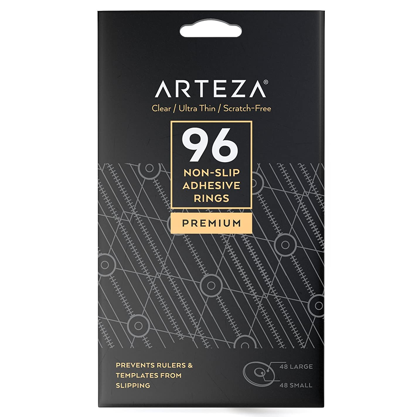 ARTEZA Non Slip Adhesive Glass Rings - Rubber Pads - (Set of 96) irx14244425