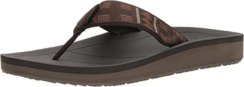 Teva Men's Premier Flip-Flop, Beach Break braun, 13 M US