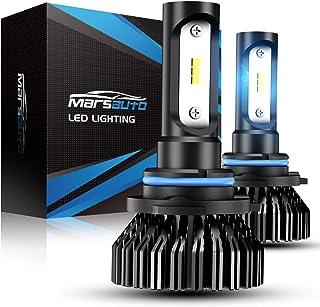 Marsauto 9006 LED Headlight Bulbs HB4 HB4U 9006XS 8000LM 6000K Low Beam Fog Light Head Light Bulb 12 CSP Chips Cool Bright Pack of 2
