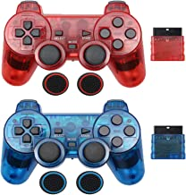 $20 » Sponsored Ad - Wireless Controller for PS2 Controller,Built-in Dual Vibration 2.4G Gamepad Compatible for Playstation 2,wi...