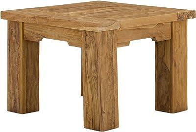 44x 44x 40cm Jaipur Durban Beistelltisch braun Holz