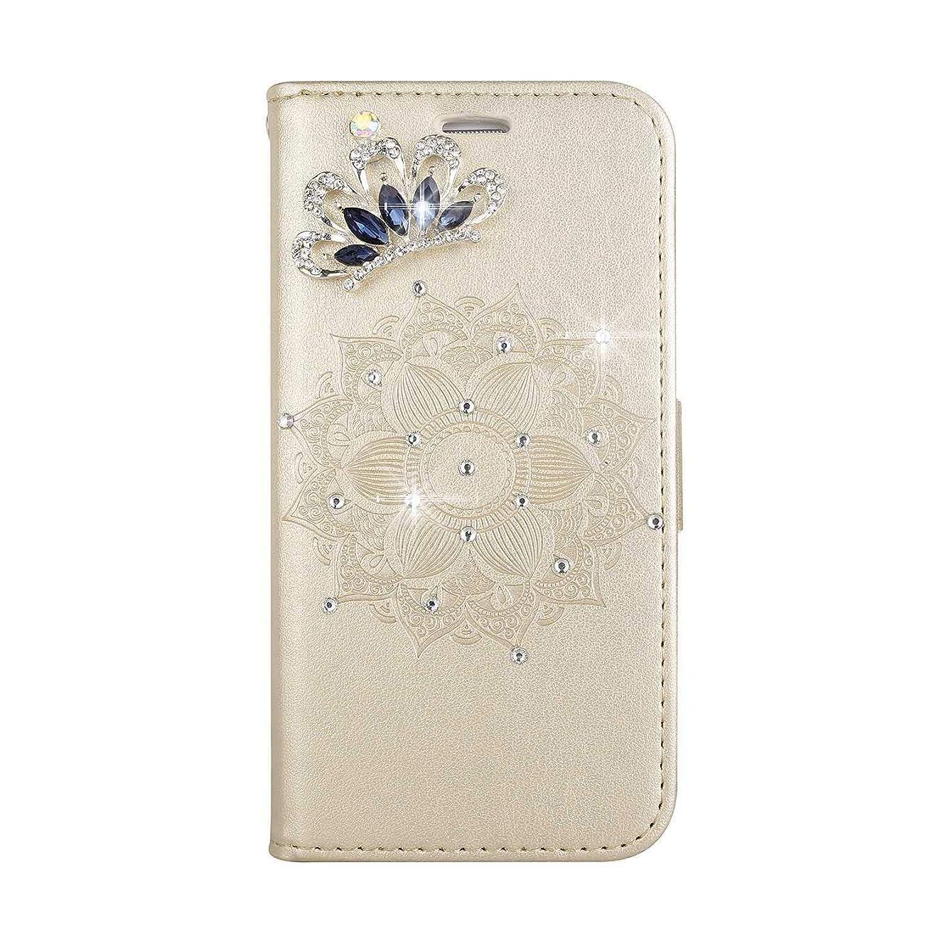 バブル失礼のれんHuawei Honor 8 防塵 ケース, CUNUS 高品質 合皮レザー ケース 超薄型 軽量 スタンド機能 キラキラ 星 れ カード収納 カバー Huawei Honor 8 用, ゴールド