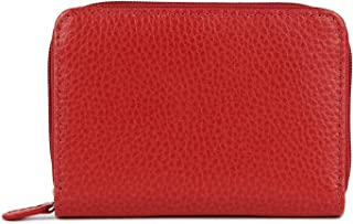 Laurige France Small Women's Leather Wallet Red