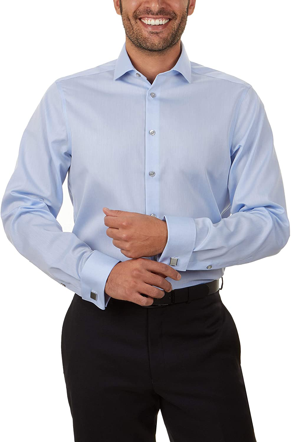 Calvin Klein Men's Dress Shirt Non Free shipping anywhere in the nation Solid Sl OFFicial site Iron Extra Regular
