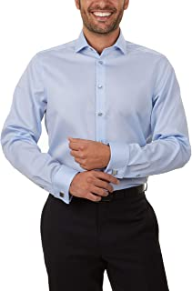 """Calvin Klein Men's Dress Shirt Non Iron Solid (Regular, Extra Slim, and Big and Tall Fits), Blue, 16.5"""" Neck 34""""-35"""" Sleeve"""