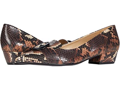 Naturalizer Barton (Brown Tonal Snake Print Leather) Women