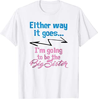 Gender Reveal Big Sister Shirt gift idea for party attire