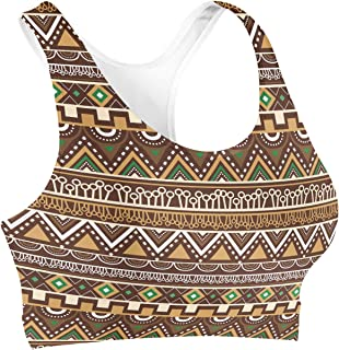 Rainbow Rules Lion King Inspired African Tribals Disney Sports Bra - 3XL Brown