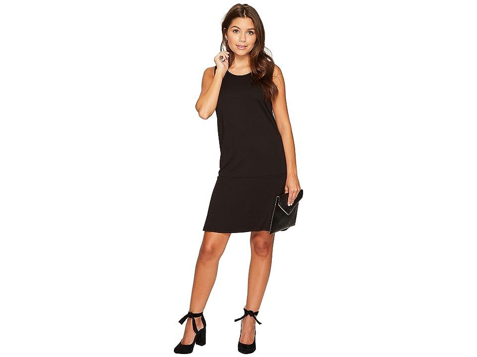 Jack by BB Dakota Ponte Drop-Waist Dress (Black) Women