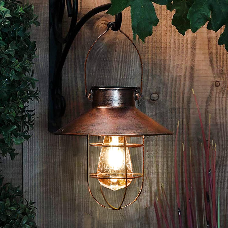 Max 83% OFF pearlstar Solar Lantern Outdoor Hanging Lamp Financial sales sale w Metal Light