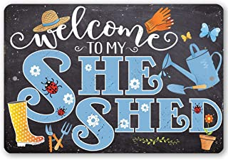 She Shed - Blue - Durable Metal Sign - 8