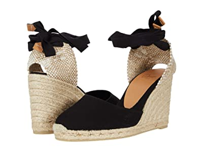CASTANER Carina 80 Wedge Espadrille (Black) Women