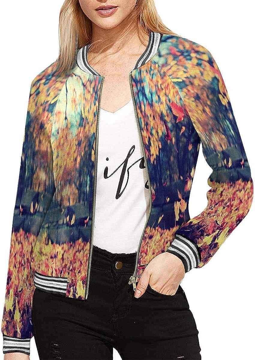 InterestPrint Women's Music Notes Jacket Long Sleeve Zipper