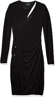 جاست كافالي فستان جيرسي للنساء بأكمام طويلة