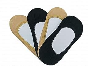 Varshine No Show Socks for Women & Girls   Mercerised Cotton Unisex Loafer Socks for Daily Use & Sports   Fits Upto UK Size 10, US Size 12 & Euro Size 45   Combo of 4 Liner Socks