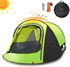 Sunnychic Automatic Pop Up Tent, 2-3 Persons Family Camping Tent, 3 Seconds Automatic Opening Waterproof Sun Shelter, Instant Tents for Outdoor Hiking 3 Season Tent