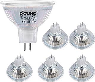 DiCUNO Ampoule LED MR16 GU5.3 5W, Non dimmable, Ampoules LED Spot GU 5.3, Équivalent halogène 50W, 500LM, Blanc neutre 400...