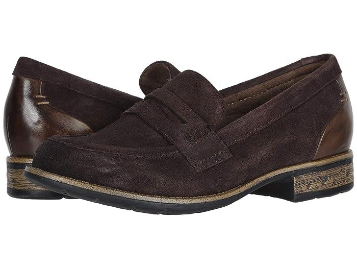 70s Shoes, Platforms, Boots, Heels Earth Avani Barcelona Chocolate Multi Premium Cow SuedeSoft Calf Womens  Shoes $84.99 AT vintagedancer.com